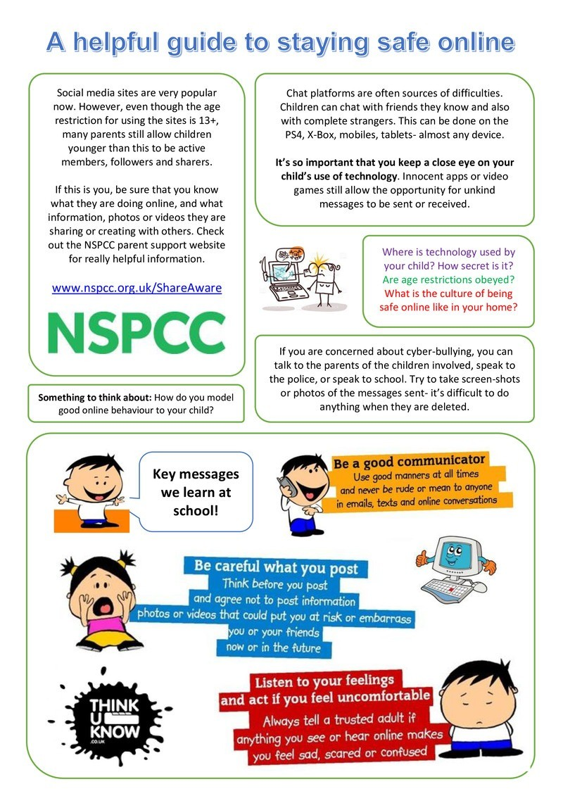 Keeping Your Child Safe >> Keeping Your Child Safe Online St Mark S Cofe Primary School